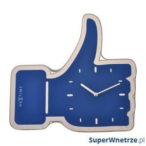 Zegar ścienny Nextime Thumbs Up niebieski - 2843253737