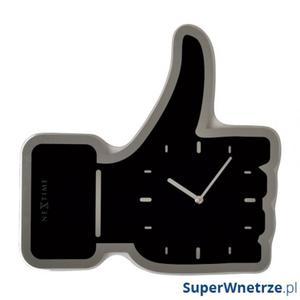 Zegar ścienny Nextime Thumbs Up czarny - 2843253736