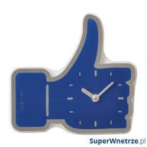 Zegar ścienny Nextime Mini Thumbs Up niebieski - 2843253715