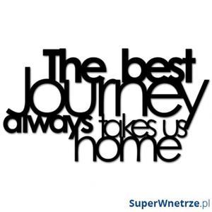 Napis 3D na ścianę DekoSign THE BEST JOURNEY ALWAYS TAKES US HOME czarny - 2825981394
