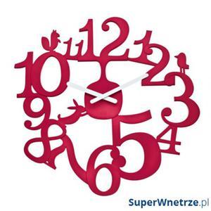 Zegar ścienny Koziol Pi:p malinowy - 2825980361