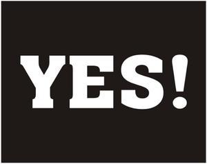 """Naklejki na buty """"YES !"""" (kpl.2 szt) - 2825622544"""