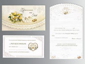 Zaproszenia ślubne ZSP-944 (1zestaw) - 2845856522