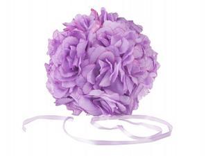Kula kwiatowa z róż - liliowa (17cm) - 2825622744