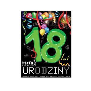 Etykiety na butelki 18 urodziny (25szt)- E803 - 2889401602