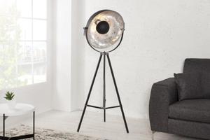 Interior :: Lampa stojąca Studio czarna srebrny środek 160cm (Z36562) - 2837235051