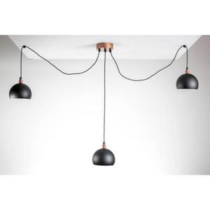 HOME Design Lux :: Lampa wisząca pająk TESTER 3LP/CZARNA/MIEDŹ (TB053) - 2854928475