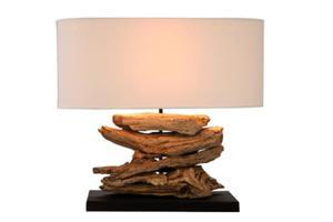 Interior :: Lampa stołowa Riverwood beż drewno 50cm (Z36786) - 2855489993