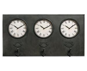 Belldeco :: Zegar dekoracyjny, wieszak Loft 3, metal, 78x40x6 cm (BD_C330ADA) - 2861827961