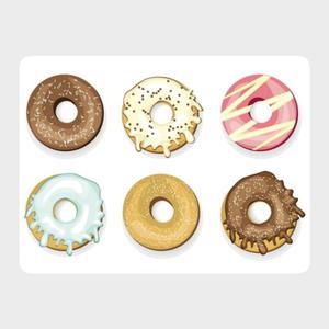 www.h-design.pl :: Zestaw 4szt. podkładek na stół Donuts 40x30cm, podkładki - 2875391897