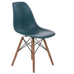 Krzesło P016W PP navy green, drewniane nogi - 2880046609