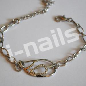 Bransoletka metalowa LISTEK - delikatna - 2861652676