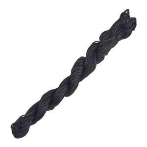 szn18 Sznurek pleciony nylonowy 1,5mm 15m - czarny - 2858380891