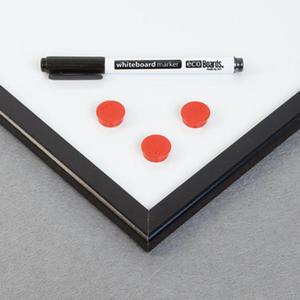 Tablica ecoBoards lakierowana 60x40cm w ramie MDF kolor srebrny - 2822326928