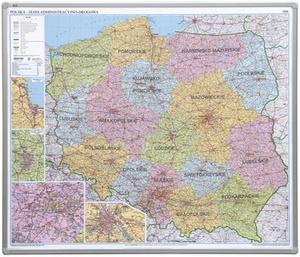 Tablica-mapa administracyjno- drogowa 102,5x120 z serii Office płyta magnetyczna - 2852650763