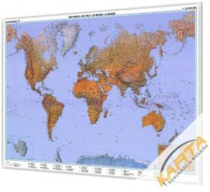 Mapa magnetyczna Świata fizyczna 1:35mln 118x82 - 2852650765