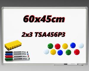 Tablica ceramiczna suchościeralna magnetyczna w ramie ALU 60x45cm - 2852650938