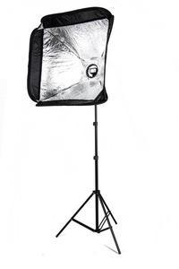 Zestaw reporterski 40x40 - softbox ze statywem - 2847715609