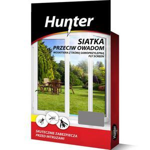 Moskitiera - siatka przeciw owadom 130x150cm szara Hunter - 2852426379