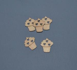 Babeczki z serduszkami scrapki 5 szt - SD106 - 2824972690