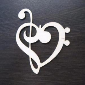 Dekor serce z kluczem wiolinowym AD397 - 2824973547