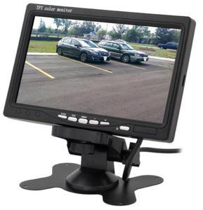 "Monitor samochodowy do kamer cofania, LCD 7"", 2 wejścia VIDEO, LCD-CAR7 - 2853335295"