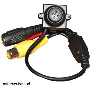 Mini kamera kolorowa 380 linii, 2 lux, obiektyw 5,5 mm guzik, AUDIO, CS700 - 2823344771