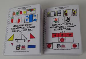 Genialny umysł kreatywne zabawy edukacyjne cz.I i cz.II- materiały ćwiczeniowe