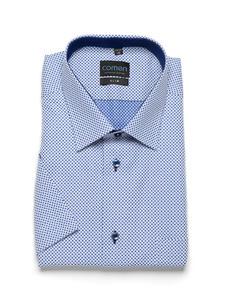 Niebieska koszula z krótkim rękawem - 2856450689