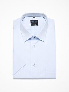 Jasnoniebieska koszula męska z krótkim rękawem - 2856450717