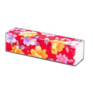 Blok polerski 4-stronny - czerwone Kwiatki 10 - czerwone Kwiatki 10 - 2852785820