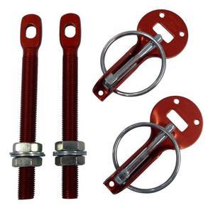 Zapinki na maskę kołkowe aluminiowe IRP - Czerwony - 2827964915