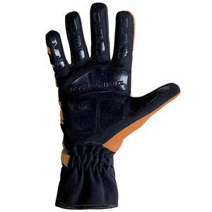 Rękawice kartingowe OMP KS-3 - Czarno-biały-żółte wstawki