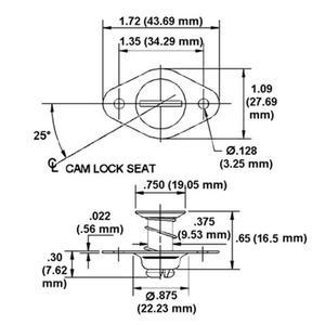 Zapinka szybkiego montażu DZUS + sprężyna