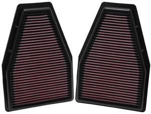 Filtr powietrza wkładka K&N PORSCHE 911 Carrera 3.8L - 33-2484