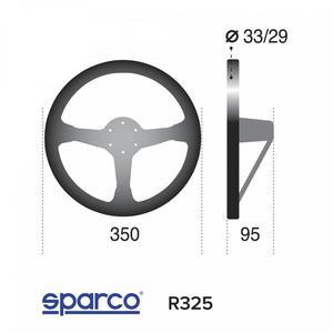 Kierownica Sparco R325 - Zamsz - 2827948362