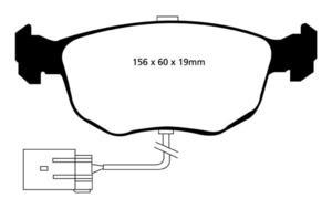 Klocki hamulcowe EBC Redstuff Ford Granada 91-94 - 2843278778