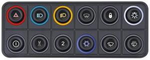 Klawiatura - panel ECUMASTER CAN BUS 12 przycisk - 2860210776