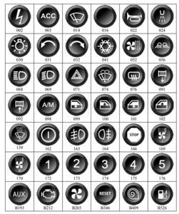 Przycisk / klawisz do klawiatury - panela steruj - 2860210779
