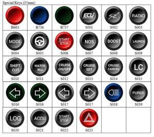 Przycisk / klawisz specjalny 15 mm do klawiatury - panela steruj - 2860210780
