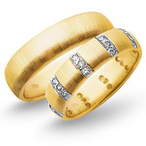 Obrączki ślubne z żółtego i białego złota 6mm - O2K/072 - 2833198309