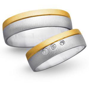 Obrączki ślubne z żółtego i białego złota 6mm - O2K/085 - 2833198322
