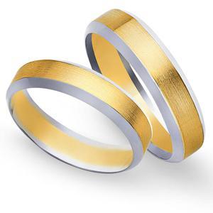Obrączki ślubne z żółtego i białego złota 5mm - O2K/092 - 2833198329