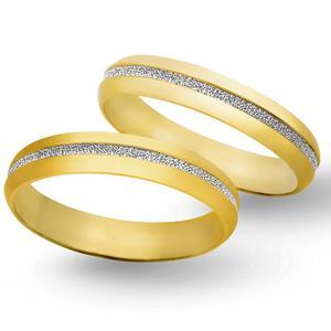 Obrączki ślubne z żółtego i białego złota 5mm - O2K/096 - 2833198333