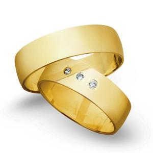 Obrączki ślubne z żółtego złota o szerokości 6mm - OZ/005 - 2833198183