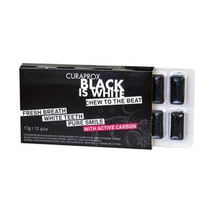 Curaprox Black is White Czarna Wybielająca Guma do żucia. NOWOŚĆ! - 2854124357
