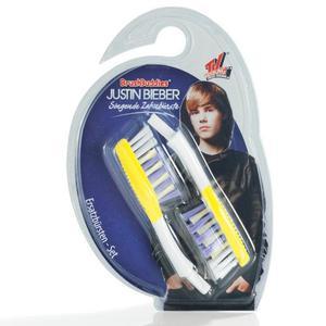 Końcówki wymienne do szczoteczki Justin Bieber 2 szt. żółte - 2827459865