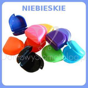 Klasyczne pudełko ortodontyczne na protezę, szynę zgryzową, aparat ortodontyczny - Niebieski - 2827459973