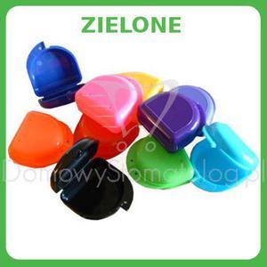 Klasyczne pudełko ortodontyczne na protezę, szynę zgryzową, aparat ortodontyczny - Zielony - 2827459974