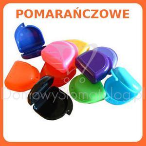 Klasyczne pudełko ortodontyczne na protezę, szynę zgryzową, aparat ortodontyczny - Pomarańczowy - 2827459975